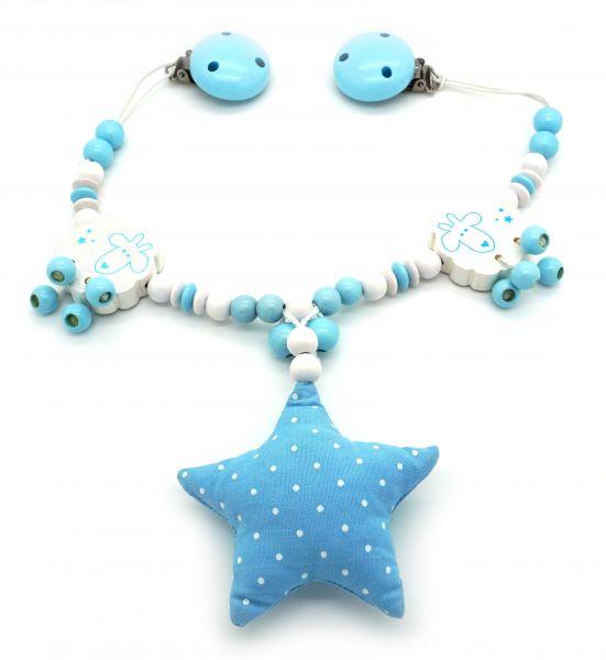 Kinderwagenkette Stern blau