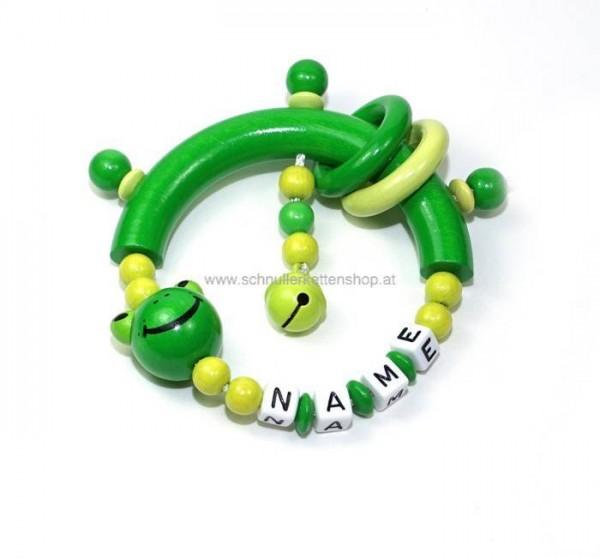 Greifling Frosch grün mit Ringe